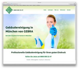 Screenshot Webprojekt GEBRA